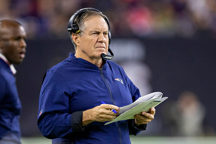Bill Belichick now has both of his sons in major roles on the Patriots coaching staff. (Photo by Wesley Hitt/Getty Images)