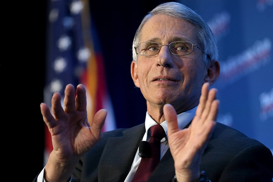 WASHINGTON, DC - JANUARY 29: Dr. Anthony Fauci, director of the National Institute of Allergy and Infectious Diseases, discusses the Zika virus during remarks before the Economic Club of Washington January 29, 2016 in Washington, DC. Fauci said that there is no indication that anyone has been bitten by a mosquito in the United States and acquired the Zika virus. (Photo by Win McNamee/Getty Images)