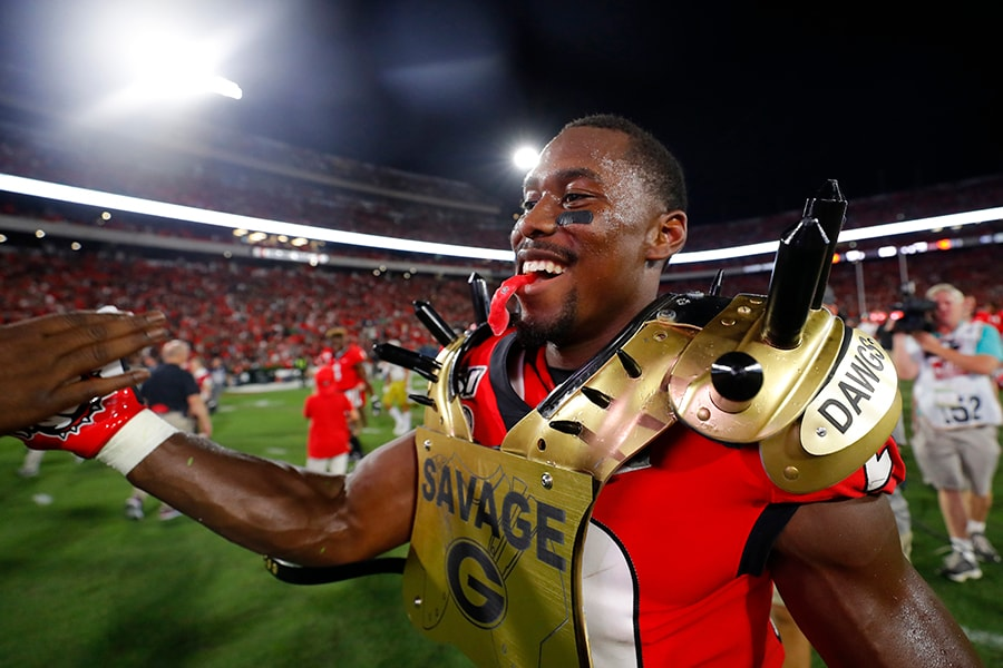 NFL Draft: Georgia safety J.R. Reed is a selection on 2020 the Felger & Mazz Big Board. (Photo by Kevin C. Cox/Getty Images)