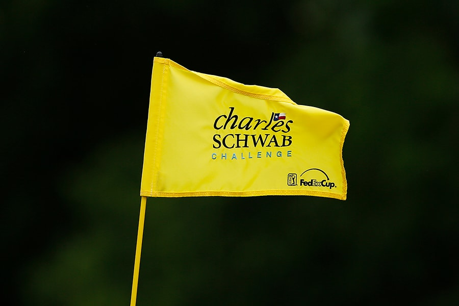 FORT WORTH, TEXAS - MAY 23: A general view of a flag during the first round of the Charles Schwab Challenge at Colonial Country Club on May 23, 2019 in Fort Worth, Texas. (Photo by Michael Reaves/Getty Images)