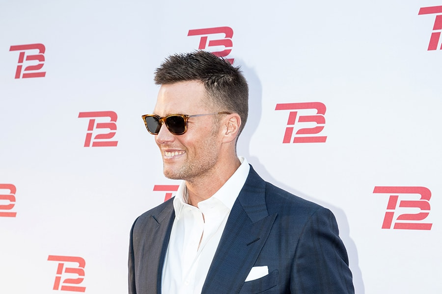 BOSTON, MA - SEPTEMBER 17: New England Patriots player Tom Brady at the grand opening of the TB12 Performance & Recovery Center on September 17, 2019 in Boston, Massachusetts. (Photo by Scott Eisen/Getty Images)