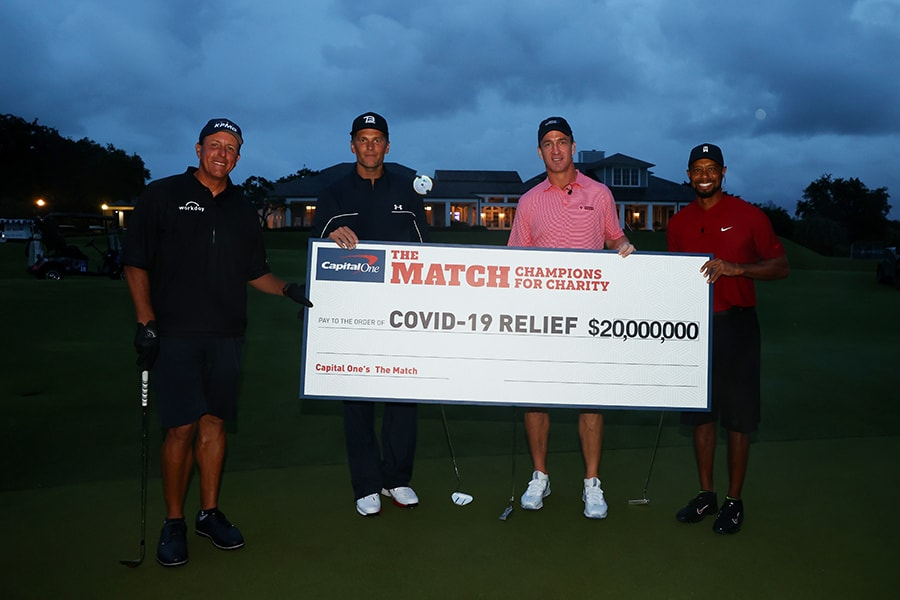 Woods and Mickelson charity match proves a ratings hit