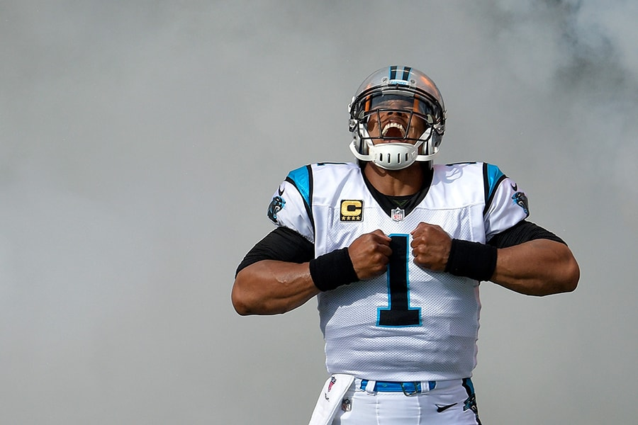 The latest Cam Newton odds sent the new Patriots quarterback near the top of the NFL MVP betting. (Photo by Grant Halverson/Getty Images)