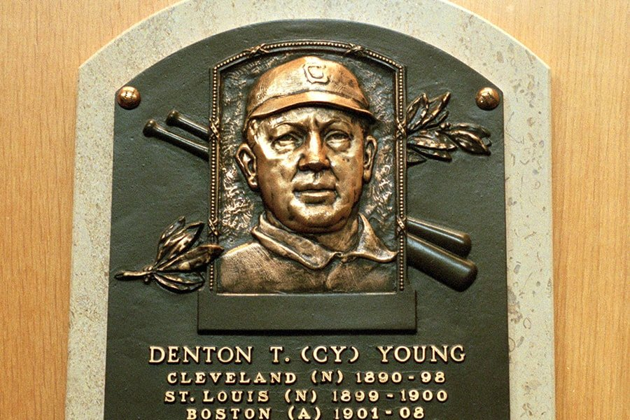 Red Sox legend Cy Young threw one of 18 no-hitters in franchise history. (Ezra O. Shaw/Allsport)