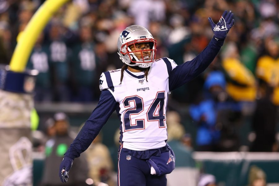 Stephon Gilmore deserves to be rewarded with at least a modest bump on his contract. (Photo by Mitchell Leff/Getty Images)