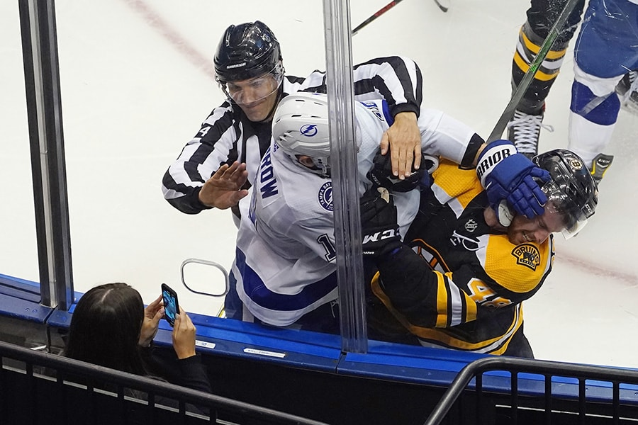 Barclay Goodrow should hear from NHL for hit on Anders Bjork