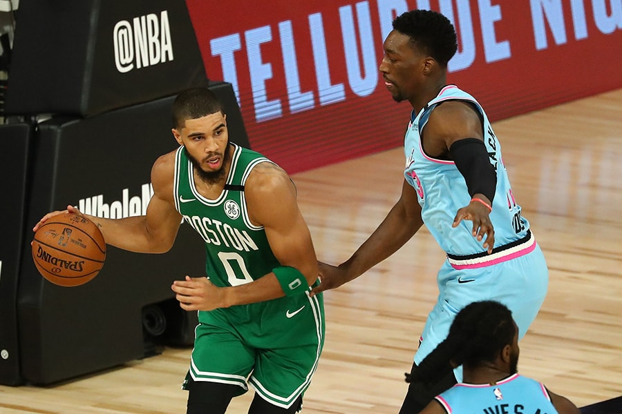 Celtics forward Jayson Tatum may need to be the best player on the floor in Game 1 vs the Heat. (Kim Klement-USA TODAY Sports)