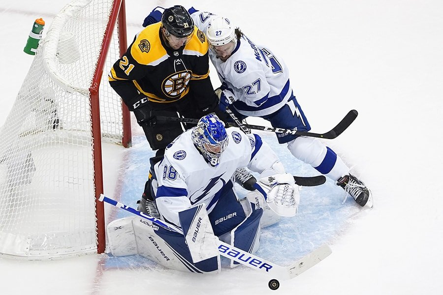 Nick Ritchie provides the kind of size and physicality that the Bruins need against Tampa. (Photo by Andre/Ringuette/Getty Images)