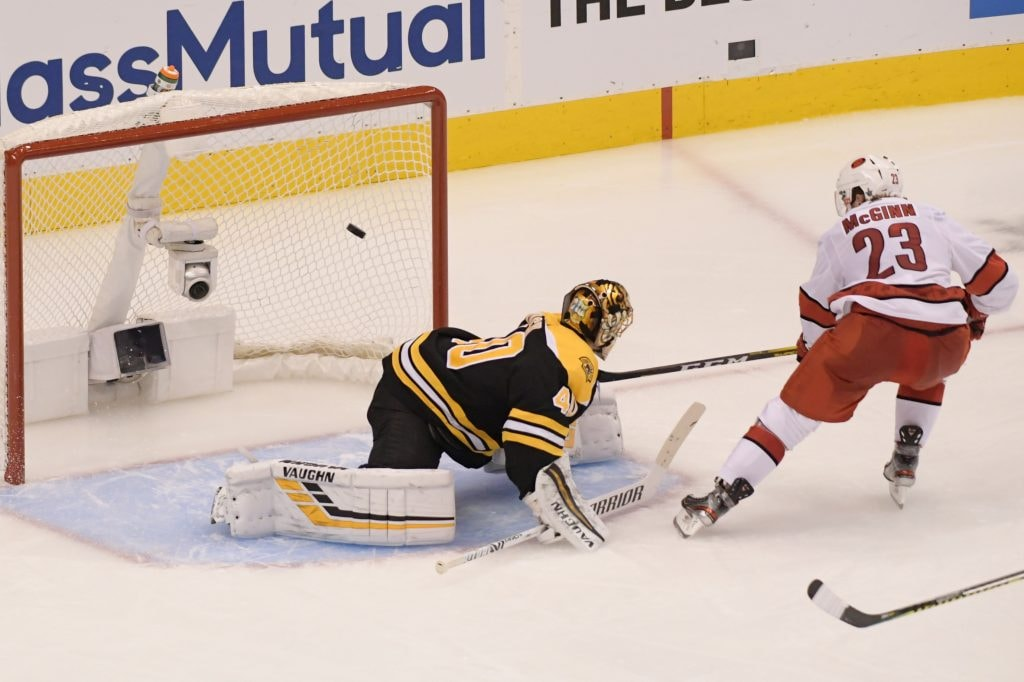 Bruins eliminate Hurricanes in Game 5