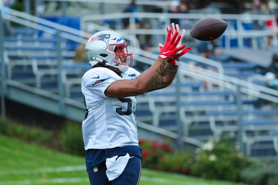 Patriots tight end Devin Asiasi could play a key role in the passing game on Sunday at the Seahawks. (Photo courtesy of the New England Patriots)
