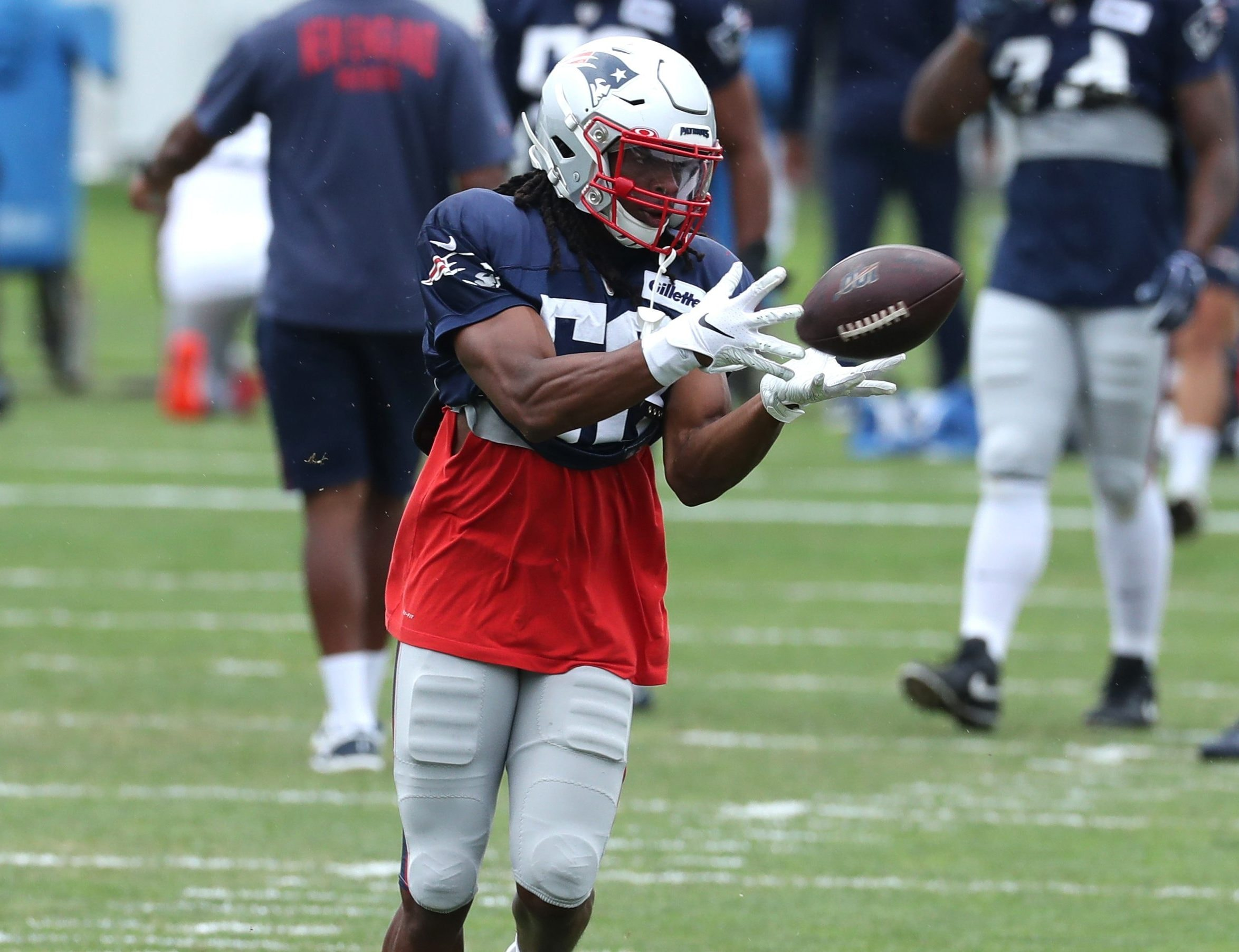 Patriots safety Kyle Dugger has a chance to keep showing off his playmaking in Week 3 against the Raiders. (Photo courtesy of the New England Patriots)