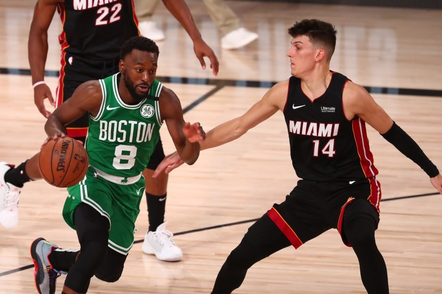 Kemba Walker is going to have to show more if the Celtics want to win Game 5 against the Heat, let alone come back and win the series. (Kim Klement-USA TODAY Sports)