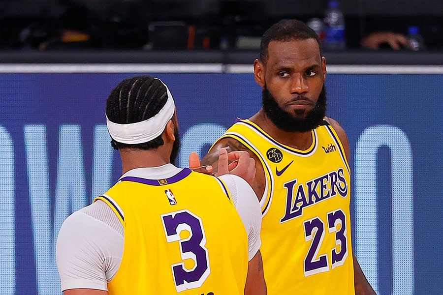 The Celtics get their biggest test of the season so far on Saturday against LeBron James and the Lakers. (Photo by Mike Ehrmann/Getty Images)