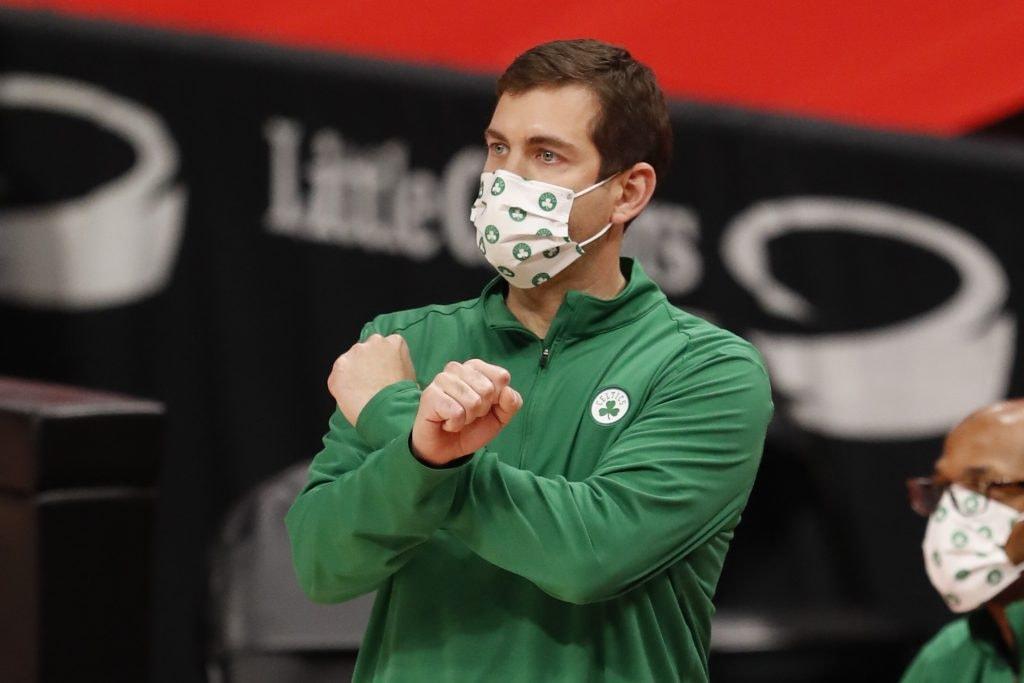 Celtics head coach Brad Stevens compared LeBron James to Tom Brady recently. (Raj Mehta-USA TODAY)