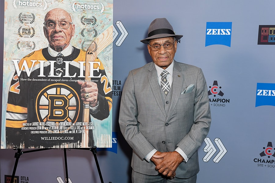 22 jersey of Willie O'Ree, first Black player in National Hockey League