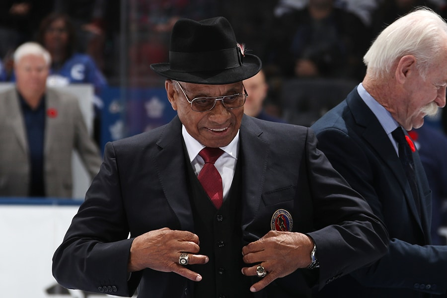"Willie O'Ree was inducted into the Hockey Hall of Fame in 2018 under the ""Builder"" category. (Bruce Bennett/Getty Images)"