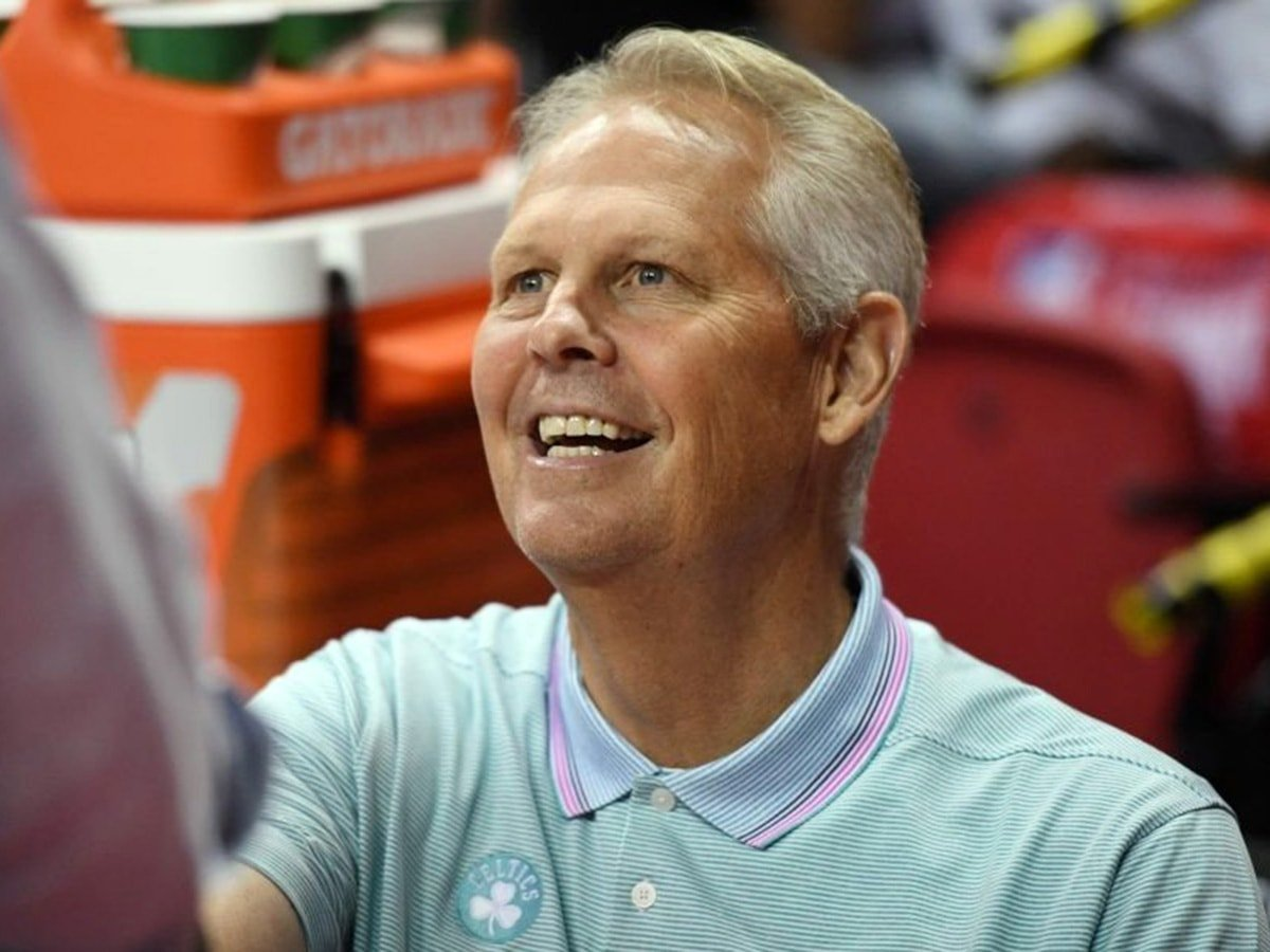 LAS VEGAS, NEVADA - JULY 11: General manager and President of Basketball Operations Danny Ainge of the Boston Celtics attends a game between the Celtics and the Memphis Grizzlies during the 2019 NBA Summer League at the Thomas & Mack Center on July 11, 2019 in Las Vegas, Nevada. The Celtics defeated the Grizzlies 113-87. NOTE TO USER: User expressly acknowledges and agrees that, by downloading and or using this photograph, User is consenting to the terms and conditions of the Getty Images License Agreement. (Photo by Ethan Miller/Getty Images)