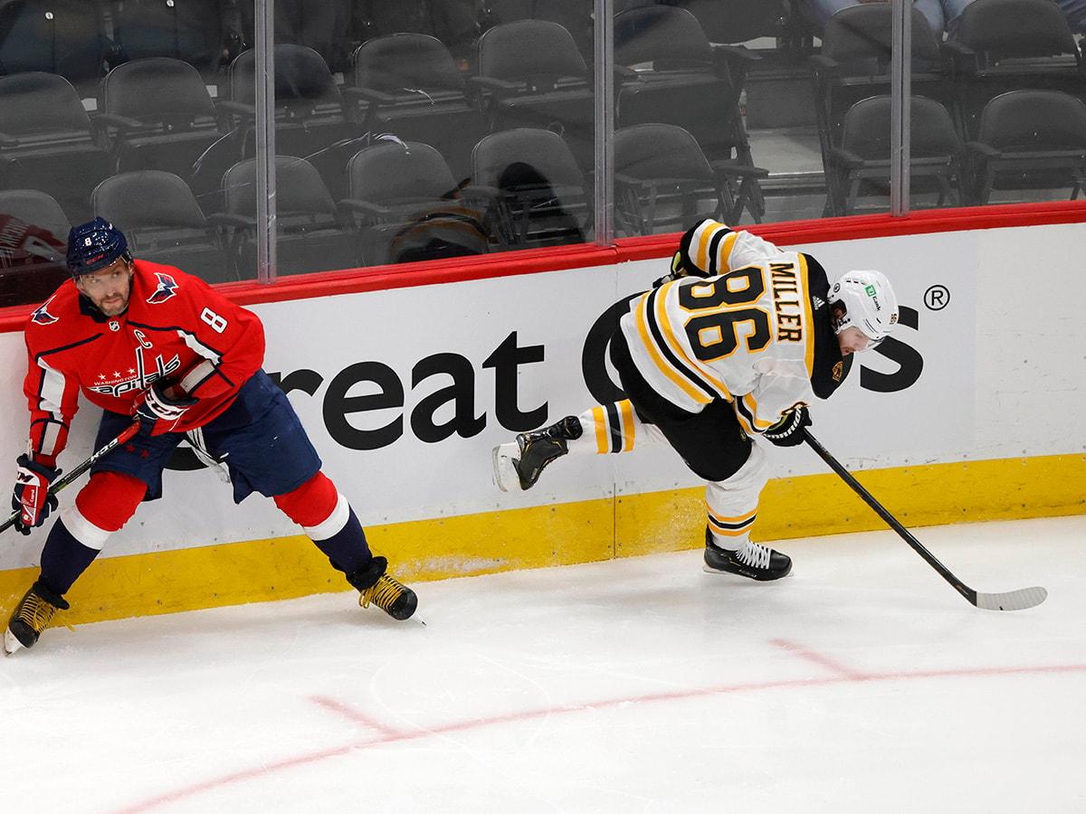 Kevan Miller Alex Ovechkin Bruins Capitals Game 1 copy.